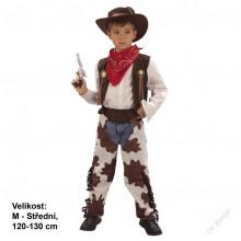 Dětský karnevalový kostým kovboj - bleskurychlý JACK 120-130cm (5 - 9 let)